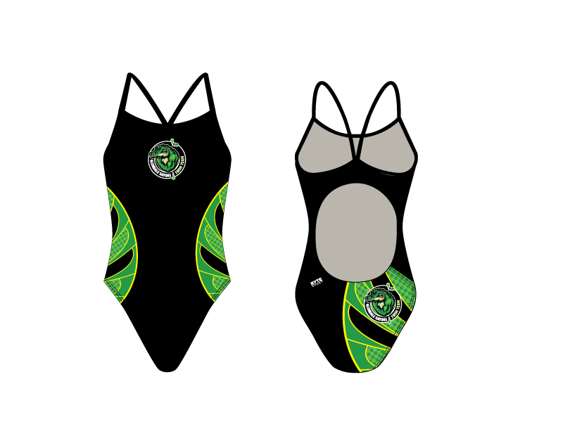 Glendale Gators Swim Team 2019 Custom Women's Active Back Thin Strap Swimsuit