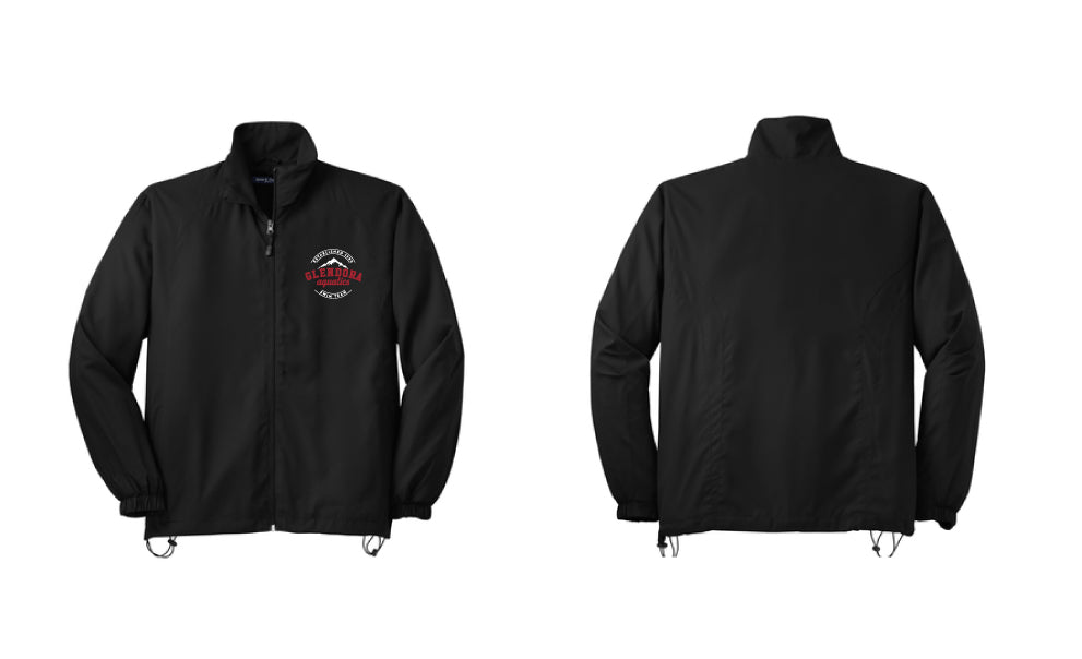 Glendora Aquatics 2019 Unisex Black Full-Zip Wind Jacket