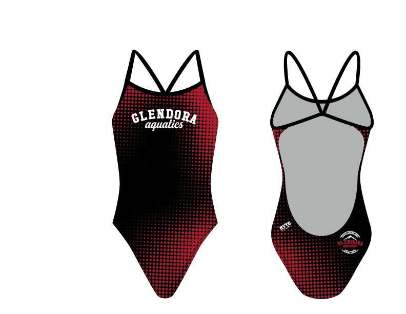 Glendora Aquatics 2019 Custom Women's Open Back Thin Strap Swimsuit