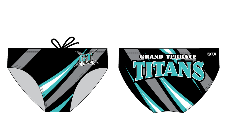 Grand Terrace High School Swim 2020 Custom Men's Swim Brief - Personalized