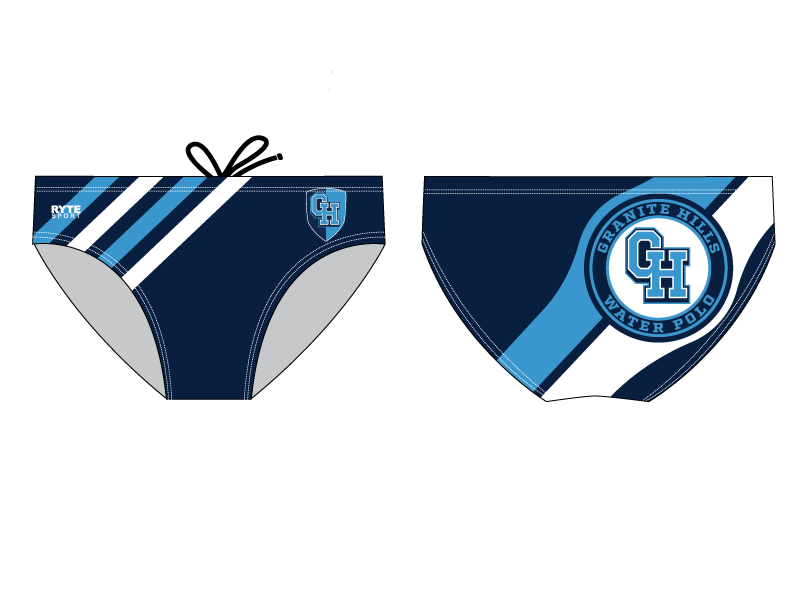 Granite Hills High School Water Polo Custom Men's Water Polo Brief