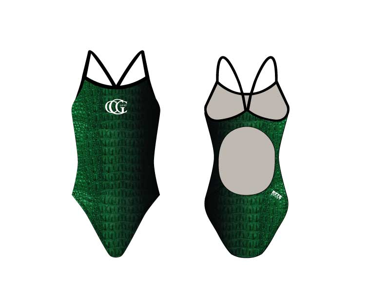 Greenwich Country Club Active Back Thin Strap Swimsuit - Personalized
