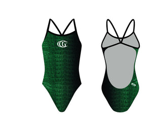 Greenwich Country Club Custom Women's Open Back Thin Strap Swimsuit - Personalized