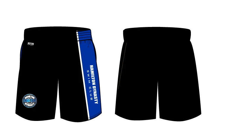 Hamilton Dynasty Swim Club Custom YOUTH Gym Shorts