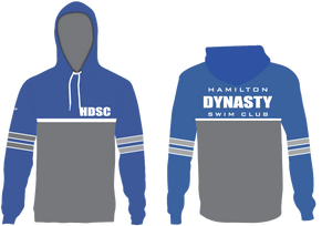 Hamilton Dynasty Swim Club 2019 Custom Blue Unisex Adult Hooded Sweatshirt