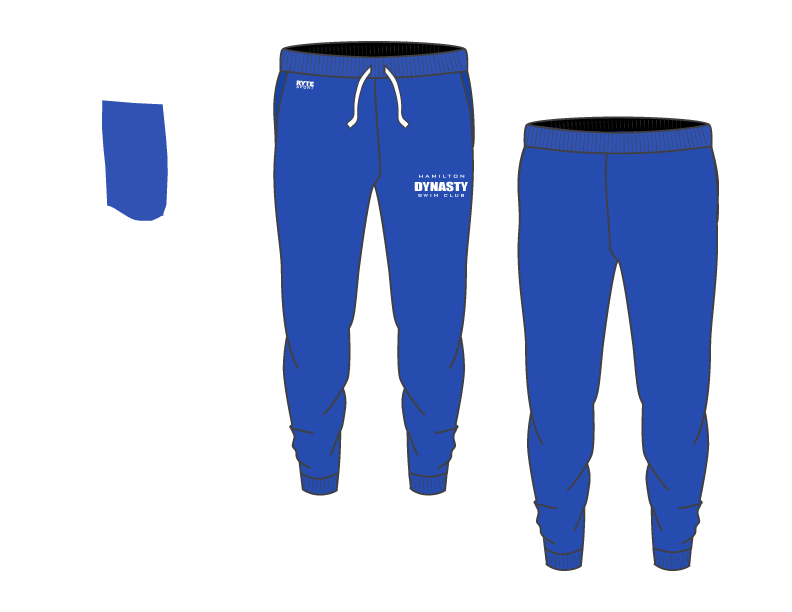 Hamilton Dynasty Swim Club Custom Adult Unisex Blue Heathered Jogger Sweatpants