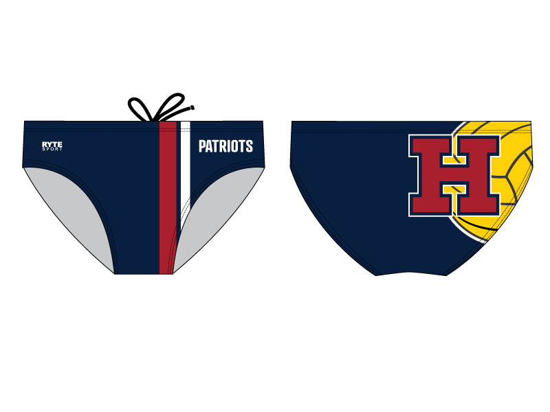 Heritage High School Custom Men's Water Polo Brief *PRE ORDER DEADLINE 08/19/2019*