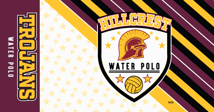 Hillcrest High School Water Polo 2019 Custom Towel - Personalized