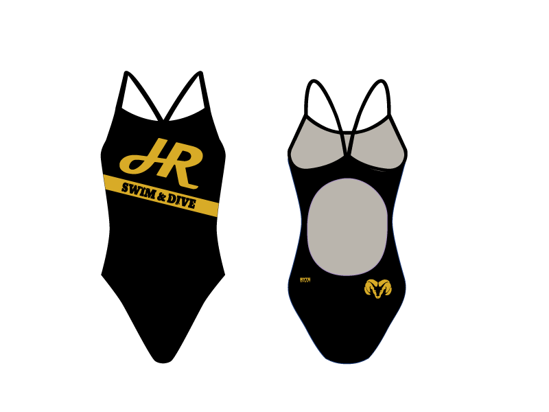 Holt Swim & Dive Team Custom Women's Active Back Thin Strap Swimsuit