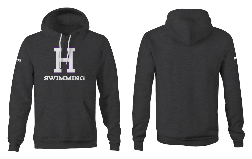 Hoover High School Swim Team 2019 Heathered Charcoal Adult Unisex Hooded Sweatshirt