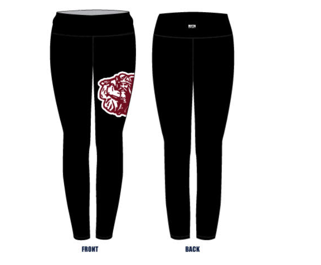 Hueneme High School Girls Water Polo Custom Women's Mid-Rise Full Length Leggings