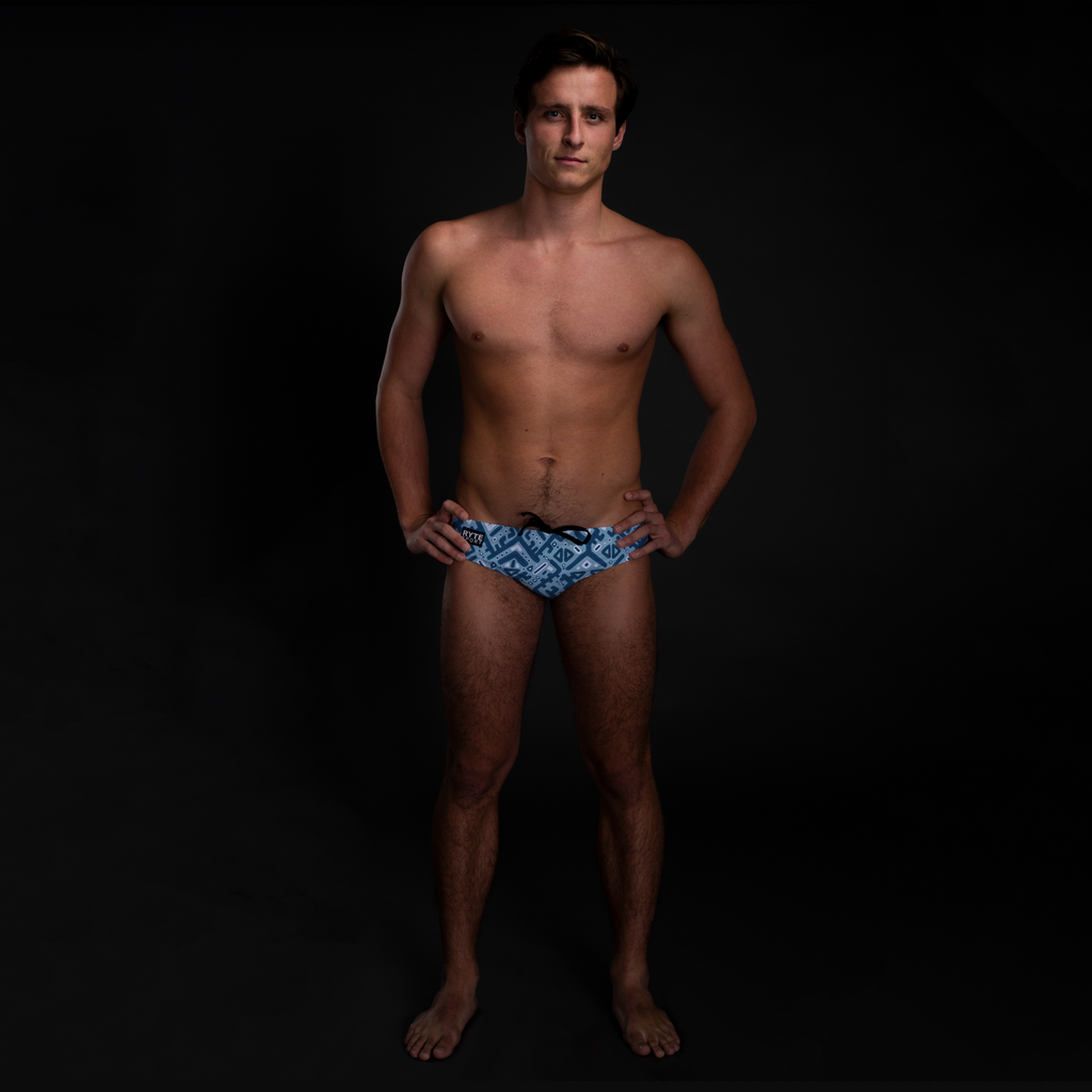 Ikat Full Print Men's Swim & Water Polo Brief