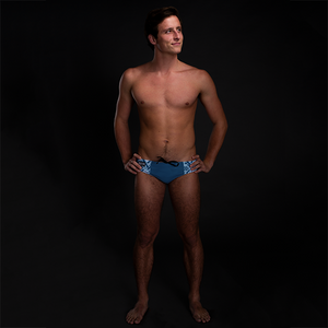 Ikat Blue Men's Swim & Water Polo Brief