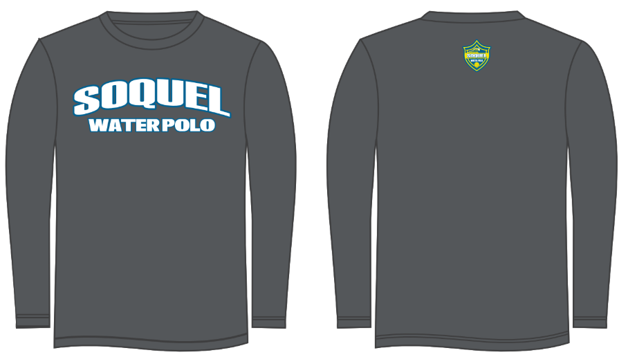 Soquel High School Water Polo Charcoal Heather Long Sleeve T-Shirt