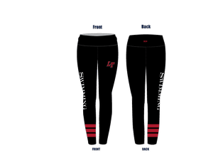 Lake Travis High School Swim Team Mid-Rise Full Length Leggings