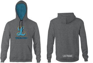 Lakeridge High School Water Polo 2019 Heathered Grey Unisex Adult Hooded Sweatshirt - Personalized