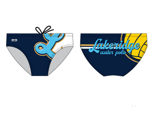 Lakeridge High School Water Polo 2019 Custom Men's Water Polo Brief