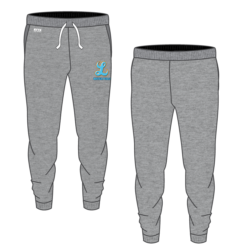Lakeridge High School Water Polo 2019 Unisex Heathered Grey Custom Jogger Sweatpants