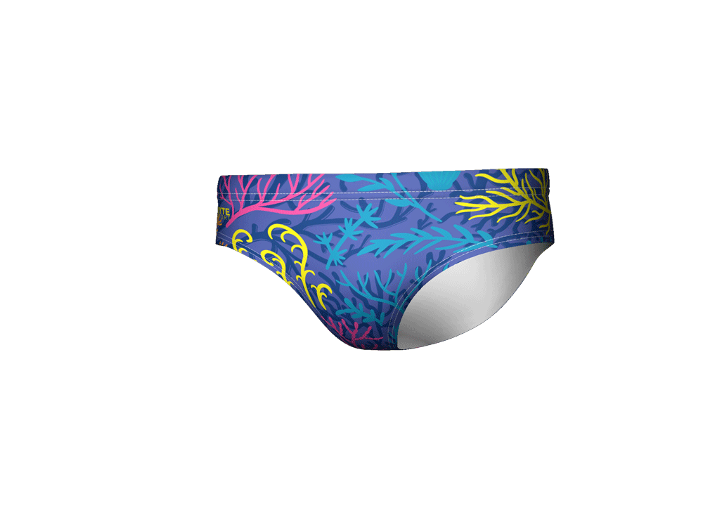 Neon Coral Men's Swim & Water Polo Brief