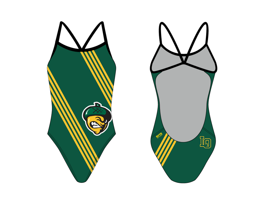 Live Oak Swim Team  Open Back Thin Strap Swimsuit 2019