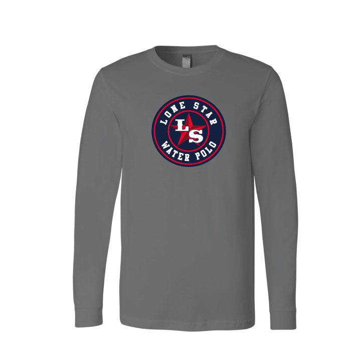 Lone Star Water Polo Club Custom Charcoal Unisex Jersey Long Sleeve Tee
