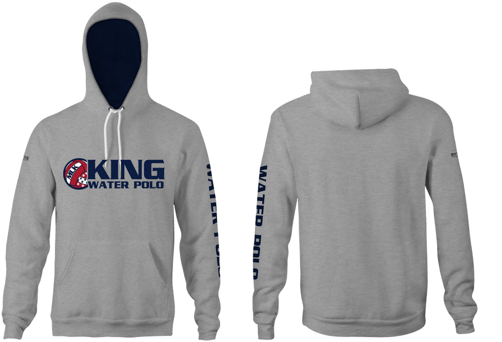 Martin Luther King High School Water Polo 2019 Unisex Heathered Hooded Sweatshirt - Personalized