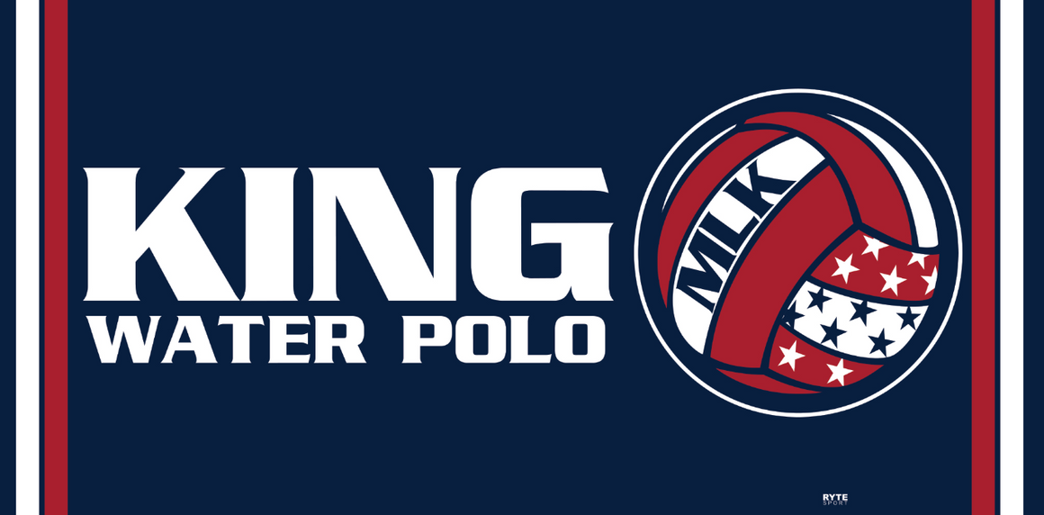 Martin Luther King High School Water Polo 2019 Custom Towel - Personalized
