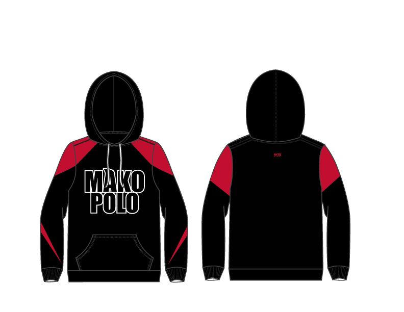 Mako Water Polo Custom Youth Unisex Hooded Sweatshirt