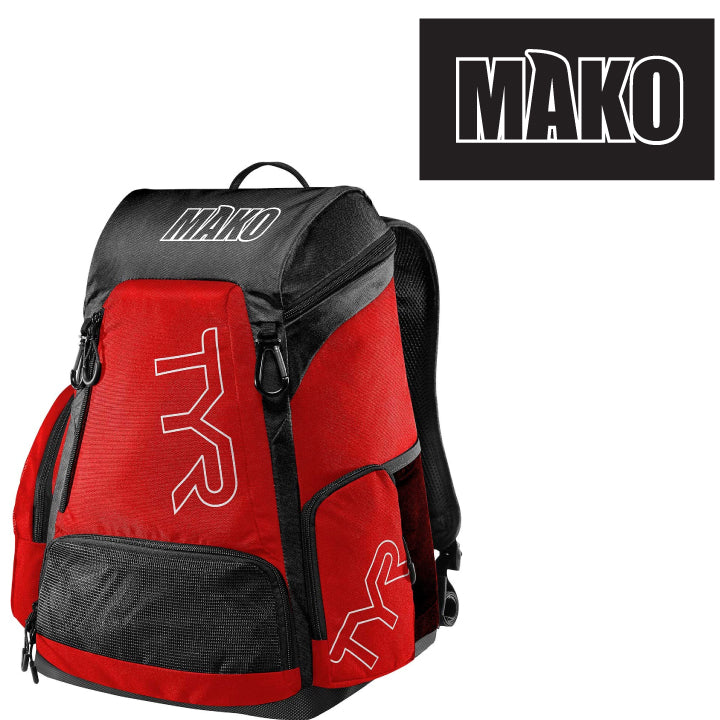 Mako Water Polo Club TYR  Red/Black
