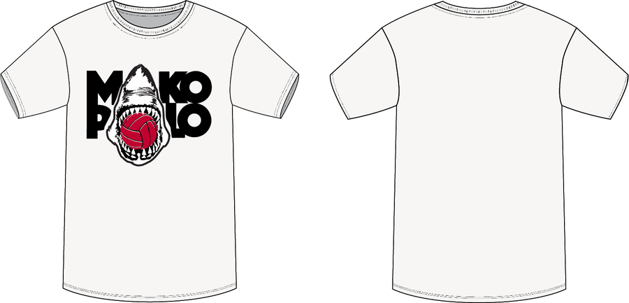 Mako Water Polo Club White Men's T-Shirt