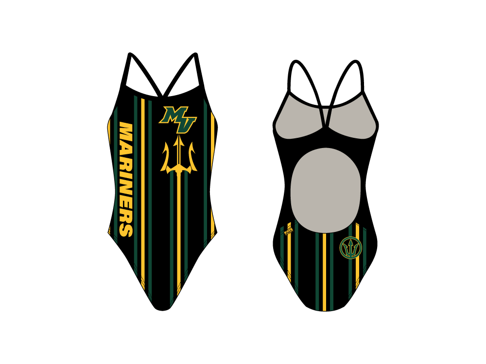 Mar Vista High School 2020 Swim Team Custom Women's Active Back Thin Strap Swimsuit