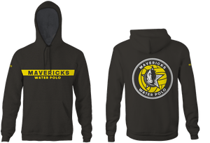 Mavericks Water Polo Club Custom Vintage Heathered Charcoal Unisex Adult Hooded Sweatshirt