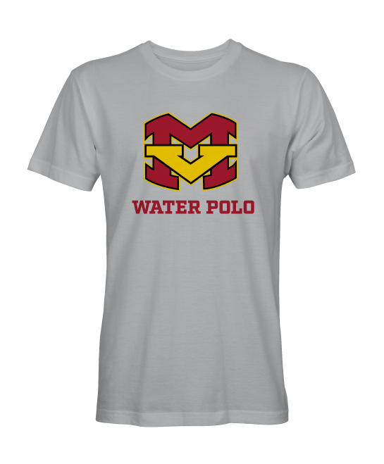 Mission Viejo High School Boys Water Polo 2019 Unisex Grey Tech T-Shirt *Size Up for a relaxed fit*