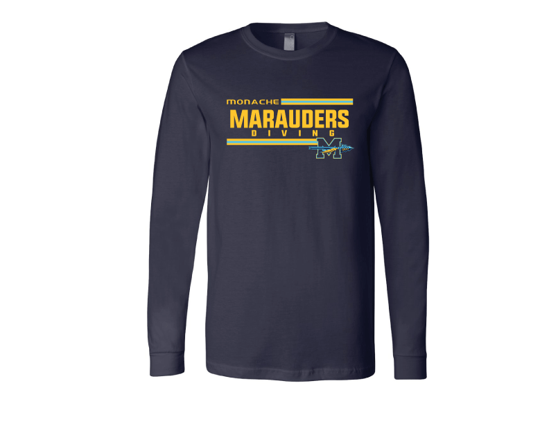 Monache High School Dive 2020 Custom Navy Unisex Jersey Long Sleeve Tee