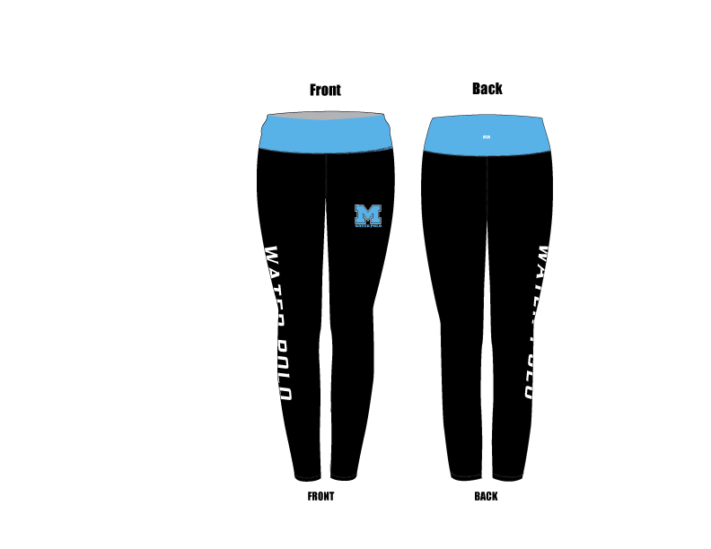 Monache High School Water Polo 2019 Custom Mid-Rise Full Length Leggings
