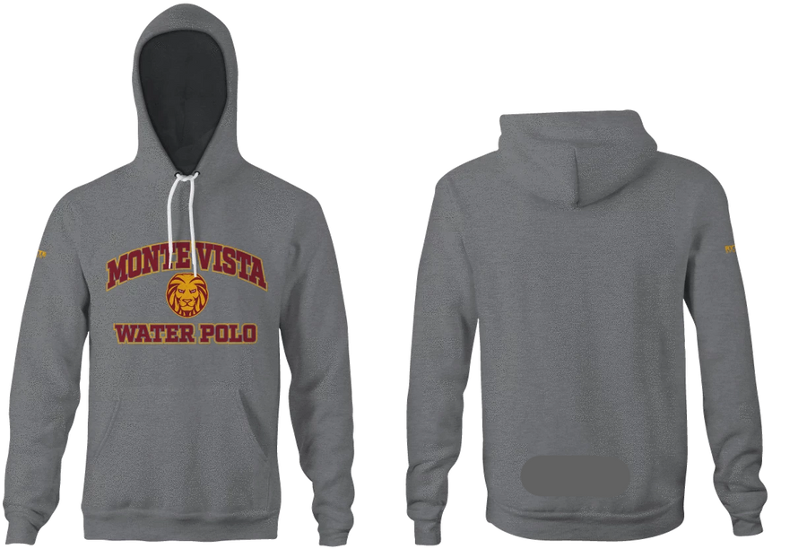 Monte Vista (SD) High School Water Polo 2019 Unisex Adult Heathered Hooded Sweatshirt - Personalized
