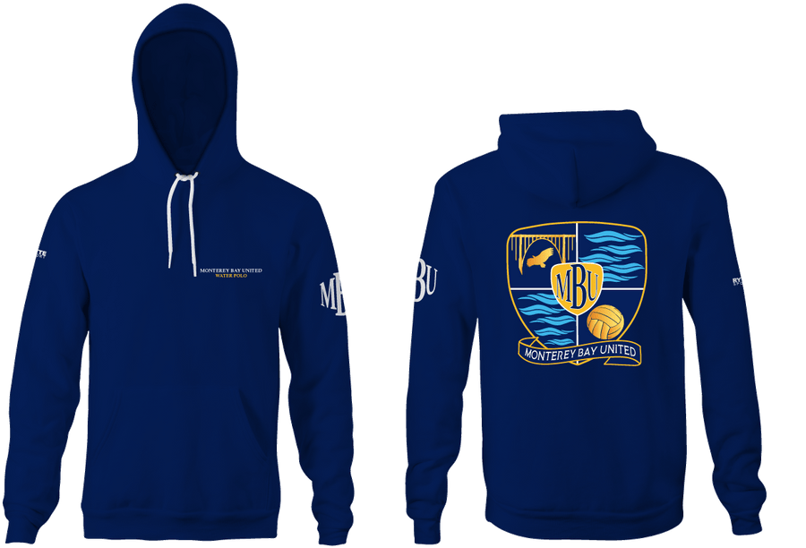 Monterey Bay United Water Polo Club Custom Adult  Unisex Hooded Sweatshirt - Navy
