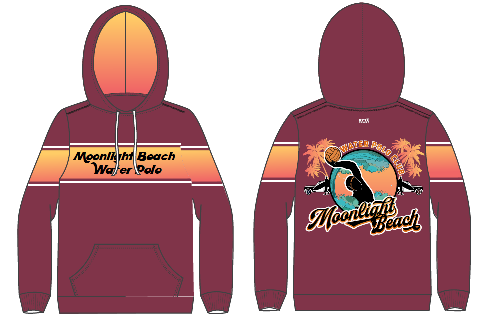 Moonlight Beach Water Polo Club Custom Unisex Hooded Sweatshirt