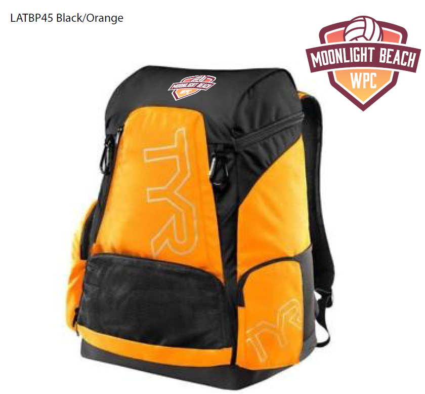Moonlight Beach Water Polo Club Custom TYR Alliance Backpack