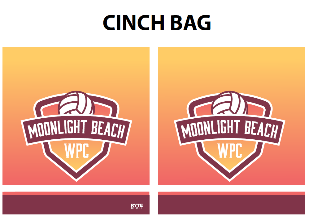 Moonlight Beach Water Polo Club Cinch Bag