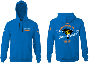 Moose Water Polo Club Junior Olympic Team 2019 Custom Blue Unisex Adult Hooded Sweatshirt - Personalized