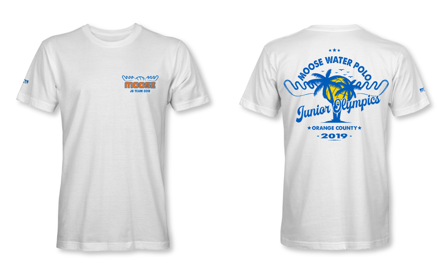Moose Water polo Club Junior Olympic Team 2019 Custom Off White Men's Dry Fit T-Shirt