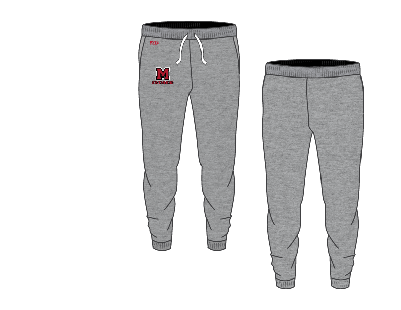 Hammond Morton High School Swim 2019 Custom Adult Unisex Heathered Jogger Sweatpants