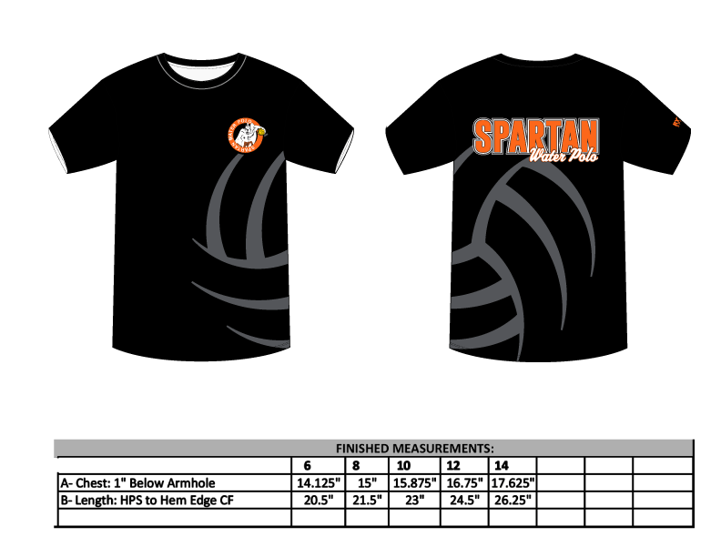 Spartan Water Polo Club Youth T-Shirt