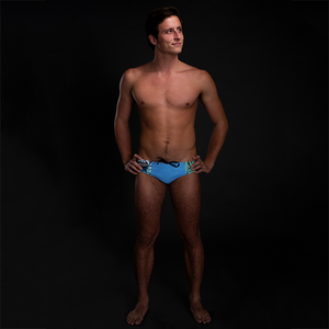 Neon Jungle Sky Blue Men's Swim & Water Polo Brief