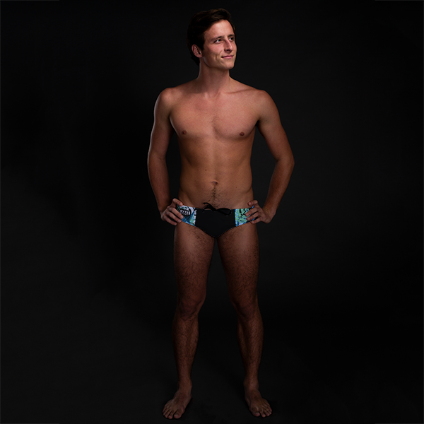 Neon Jungle Black Men's Swim & Water Polo Brief