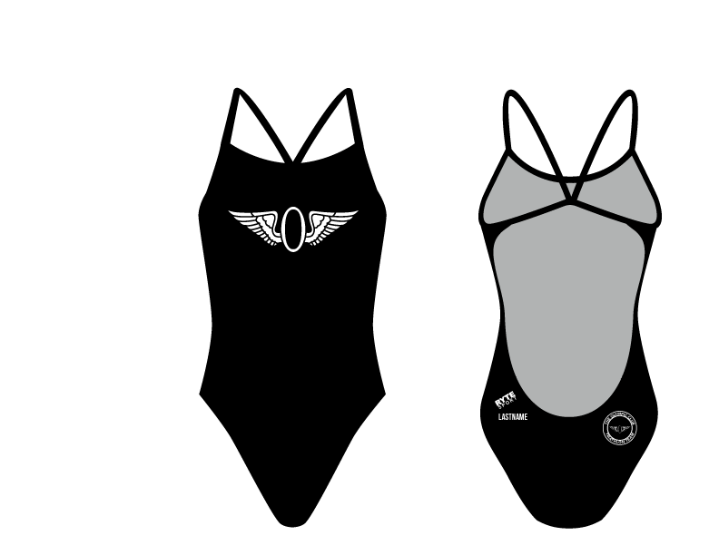 Olympic Club Triathlon Team Women's Open Back Thin Strap Swimsuit 2019
