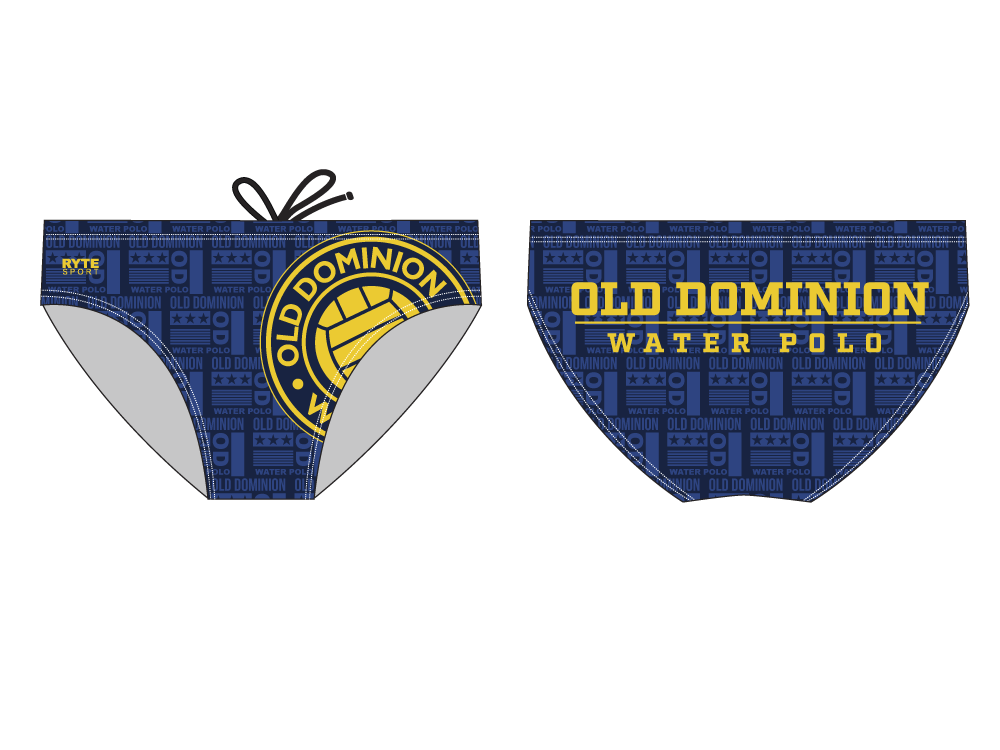 Old Dominion Water Polo 2019 Custom Men's Water Polo Brief