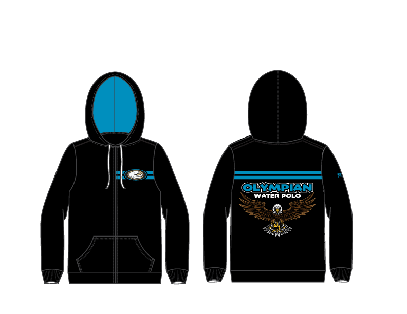 Olympian High School Water Polo 2019 Custom Unisex Zip Up Hooded Sweatshirt