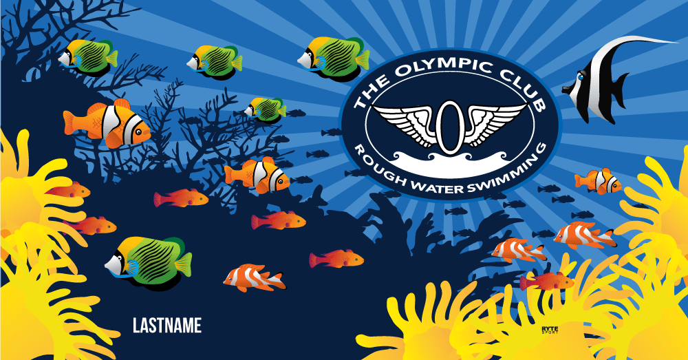 Olympic Club Rough Water Swimming 2019 Custom Towel - Personalized